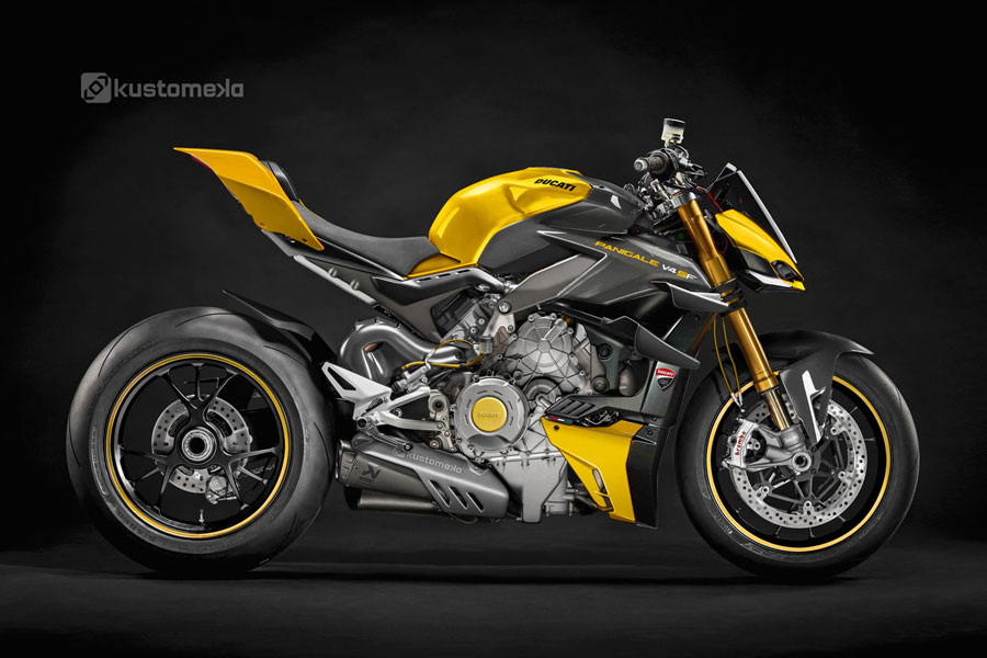 Panigale StreetFighter V4 yellow